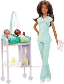Барби врач-педиатр Barbie Careers African American Baby Doctor