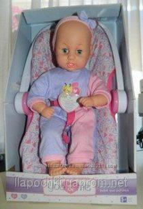 Интерактивная кукла в автокресле You&me 16 inch Kicking BabyDoll in Carrier