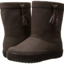 Сапоги Crocs LodgePoint Boot Slip-On С6, С11, С13, 14 см, 18 см, 20 см стельк