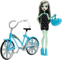 Френки Штейн на велосипеде Monster High Boltin Bicycle Frankie Stein Doll & Vehicle