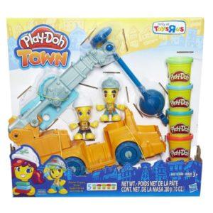 Плей-до строительный кран. Play-Doh Town Power Crane Playset