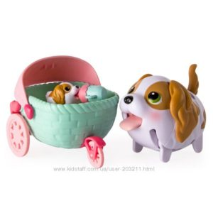 Набор Chubby Puppies & Friends – King Charles Spaniel Puppy Stroller.