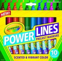 Crayola Power Lines Washable Scented Marker. Толстые-тонкие маркеры Крайола