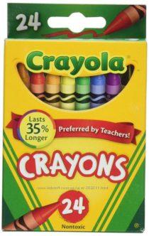 Восковые карандаши Crayola 24 шт. Крайола.