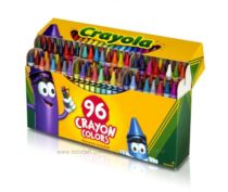 Набор Crayola восковые карандаши 96 штук, точилка. Уникальные цвета.