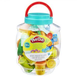Play-Doh Create Store Bucket. Большой отличный набор Плей-До. 10 баночек пластилина