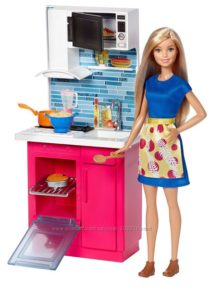 Barbie Doll & Kitchen Furniture. Барби с кухней.