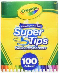Смывающиеся маркеры 100 шт Крайола Crayola Super Tips Washable Markers, 100