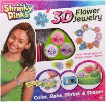 Набор для создания объемных украшений Shrinky Dinks 3D Flower Jewelry Alex