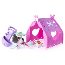 Chubby Puppies & Friends Camping Pups Tent Playset Beagle. Бигли туристы