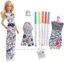 Barbie Crayola Color-in Fashions, Blonde. Набор Барби дизайнер CRAYOLA