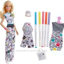 Barbie Crayola Color-in Fashions, Blonde. Набор Барби дизайнер CRAYOLA
