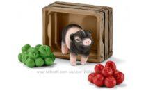 Мини-поросенок с яблоками – игрушка-фигурка, Schleich 42292