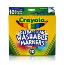 Crayola смываемые маркеры Ultra-clean Broadline Classic Washable Markers