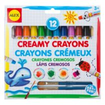 Акварельные кремовые мелки с кисточками 12 Creamy Crayons with Brushes ALEX