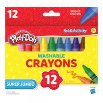 Восковые смываемые карандаши Джамбо 12 шт. Play-Doh Jumbo Crayons