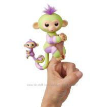 WowWee Fingerlings Интерактивная ручная обезьянка с малышкой Jess & Eden