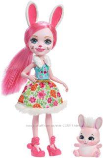 Кукла Энчантималс Бри Банни и зайка Твист Enchantimals Bree Bunny Doll