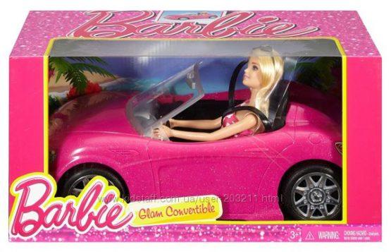 Кукла Барби и гламурный кабриолет автомобиль Barbie Convertible машина