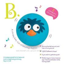 Музыкальный мячик птичка щебечет B. Toys  AniBall – Birdy Bounce