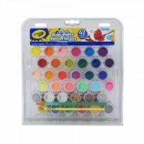 Легкосмываемые краски Crayola Крайола 42 цвета и две кисти