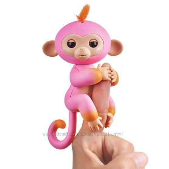 Интерактивная обезьянка Fingerlings 2Tone Monkey – Summer WowWee Оригинал.