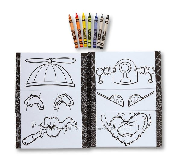 Интерактивная раскраска Крайола Смешные Лица Crayola Funny ...