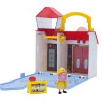 Пожарная станция Peppa Pig Firehouse Little Places Playset с фигуркой Пеппы