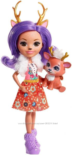 Кукла Энчантималс Данесса Олень с питомцем, Enchantimals Danessa Deer Doll