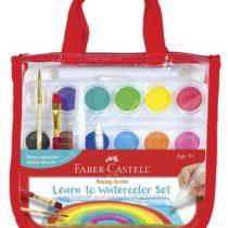 Отличный набор обучающий акварели Faber-Castell Learn to Watercolor Set