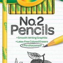 Простые карандаши с ластиком Crayola 12 шт. Крайола