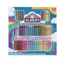 Elmer&rsquos Rainbow Glitter Glue разноцветный и глиттер клей, супер для сл