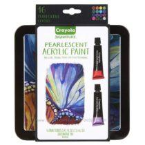 Crayola Signature Pearlescent Acrylic Paints. Крайола акриловые перл. краски