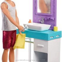 Кен и ванная комната Barbie Ken Shaving & Bathroom Playset