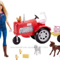 Кукла Барби Фермер на тракторе Barbie Doll and Tractor