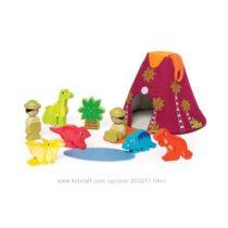 Деревянный набор Путешествие к динозаврам Manhattan Toy Jurassic Adventure