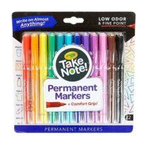 Перманентные маркеры 12 шт. Крайола Crayola Take Note Permanent Marker