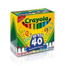 Фломастеры 40 шт Crayola Ultra Clean Washable Broad Line Markers, 40