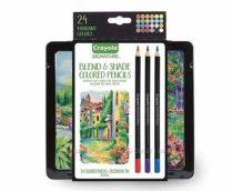 Crayola signature colored pencils. Крайола проф. серия 24 карандаша