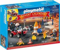 Адвент календарь PLAYMOBIL Advent Calendar – Construction Site Fire Rescue