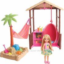 Игровой набор Барби Челси хижина пляжный домик Barbie Chelsea Tiki Hut