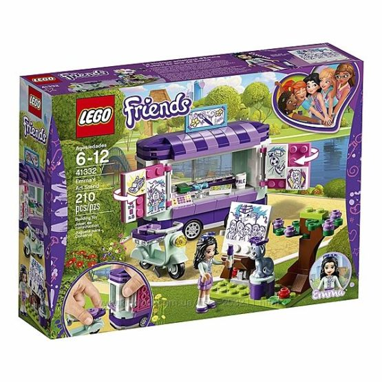 Конструктор LEGO Friends Emma&rsquos Art Stand 41332 Мольберт Эммы 210 деталей