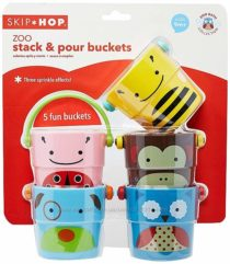 Skip Hop Набор ведерок для купания Zoo Stack and Pour Buckets, Rinse Cups