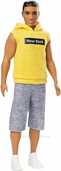 Barbie Ken Fashionistas Doll with New York Hoodie Кен модник в желтом худи