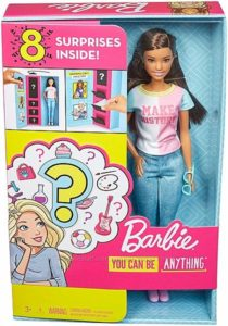 Кукла Барби брюнетка Я могу быть Сюрприз barbie surprise careers with Doll
