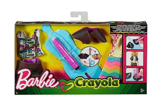 Barbie Crayola Набор одежды Барби Сотри и нарисуй Радуга Дизайн Rainbow Des
