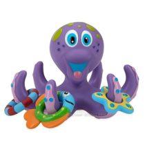 Осьминог фиолетовый с тремя игрушками-кольцами Nuby Floating Purple Octopus