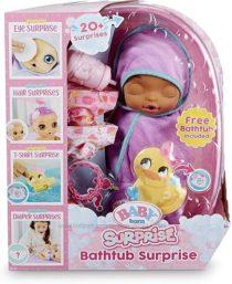 Беби Борн сюрприз фиол бантик Baby Born Surprise Bathtub Purple Swaddle Bow