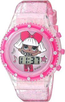 Красивые розовые часы с подсветкой ЛОЛ L. O. L Surprise