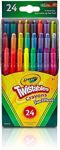 Выкручивающиеся карандаши с разными эффектами мини от Крайола 24 шт